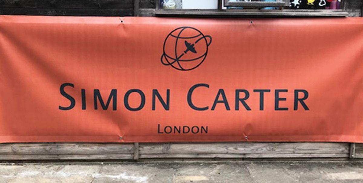 Big Advertising banner for Simon Carter