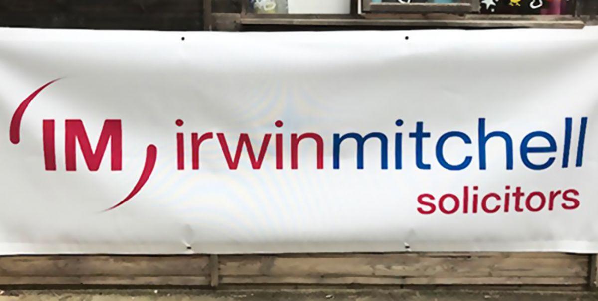 irwin Mitchell Vinyl Banner