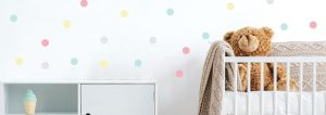 Polka Dot FabriStick Wall Stickers 1
