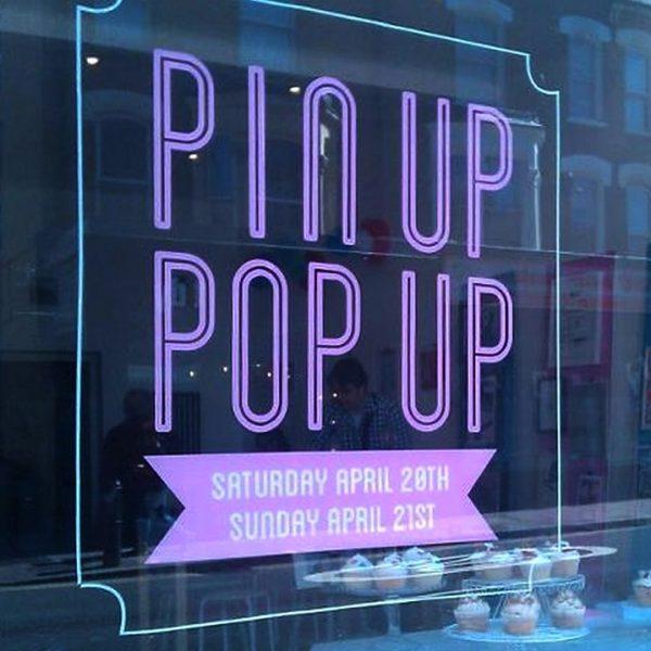 pin up pop up shop window graphics
