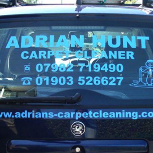 Carpet cleaner Cyan blue rear window car decals