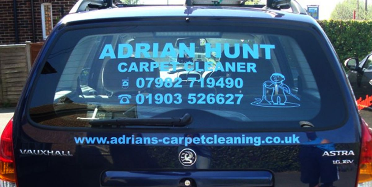 Carpet cleaner Cyan blue rear window car decals
