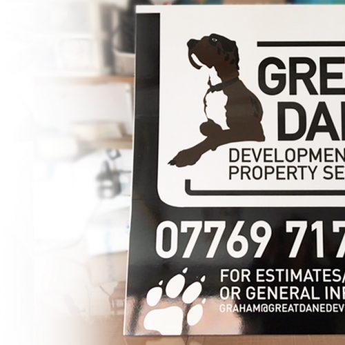 Display board signage for property developers