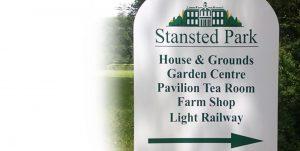 roadside dibond sign for Stansted Park Foundation