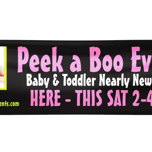 advertising banner for a baby event