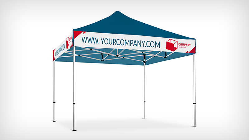 company Banner for a gazebo
