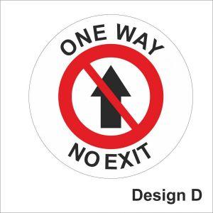 One way no exit sticker