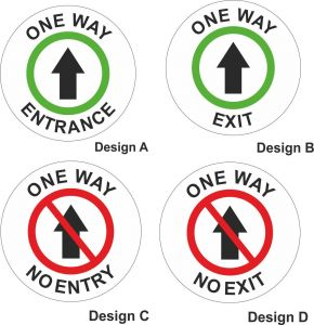 One Way System Stickers for post Covid safety