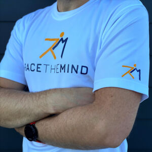 men with arms crossed wearing a Race the mind T Shirt