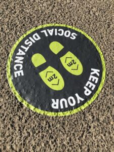 Floor Sticker for social distancing